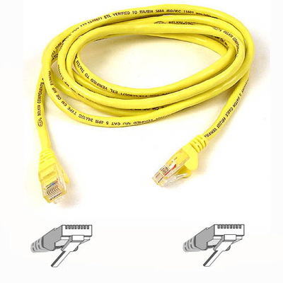 Belkin netwerkkabel: RJ45 CAT-6 Snagless UTP Patch Cable 3m yellow - Geel