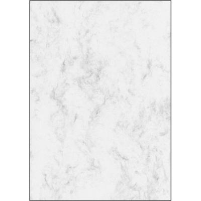 Sigel creatief papier: Gemarmerd papier - Grijs, Wit