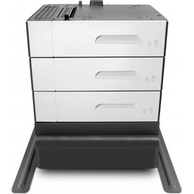 Hp printerkast: PageWide Enterprise 3x500 sheet Paper Tray & Stand - Zwart, Grijs