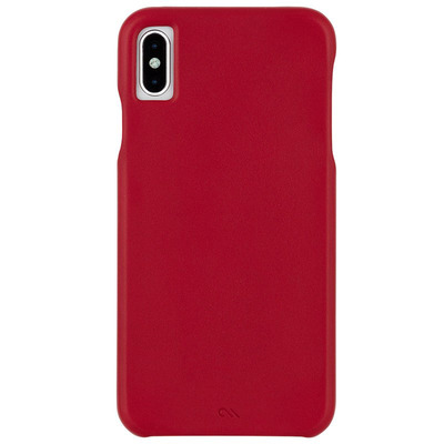 Barely There Leather Backcover iPhone Xs Max - Rood / Red Mobile phone case