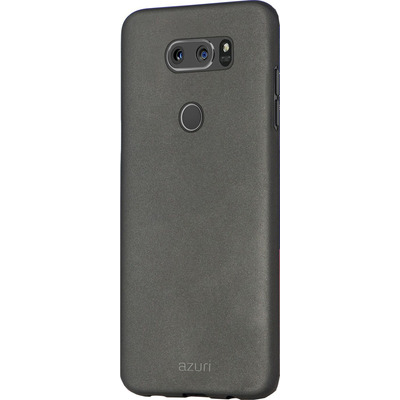Azuri Metallic cover with soft touch coating - zwart - voor LG V30 Mobile phone case