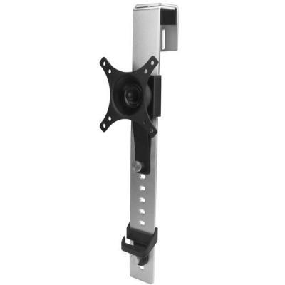 Startech.com montagehaak: Cubicle monitor arm in hoogte verstelbare beugel - Zwart, Roestvrijstaal
