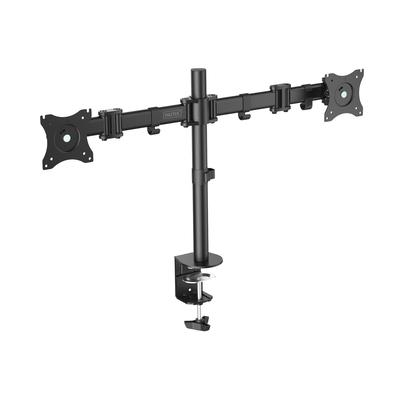 "Digitus Dual Monitor Desk Clamp Mount, 15-27"", black max. load 2x8Kg,VESA max100x100 Monitorarm - Zwart"