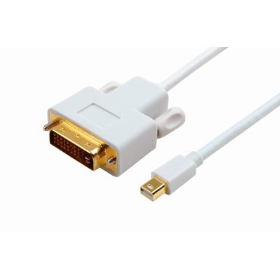 Microconnect Mini Displayport - DVI, M/M - Wit