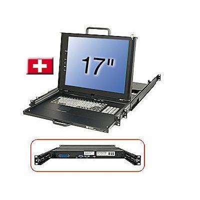 Lindy 21616 Rack console - Zwart