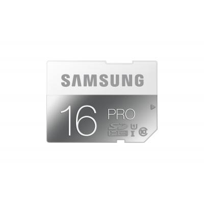 Samsung flashgeheugen: 16GB, SDHC, Pro - Grijs, Wit