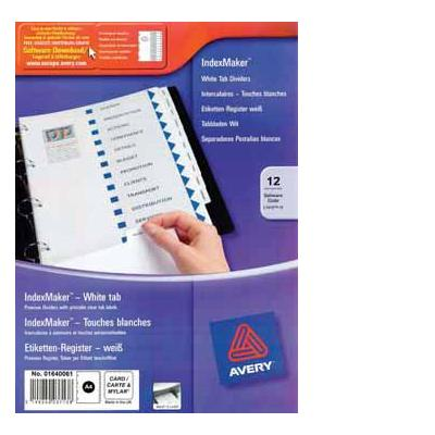 Avery product: INDEXMAKER 12 TABS