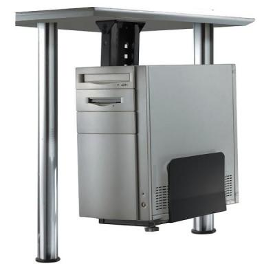 Newstar cpu steun: Under Desk PC Mount (Suitable PC Dimensions - Height: 39-54 cm / Width: 13-23 cm) - Black - Zwart