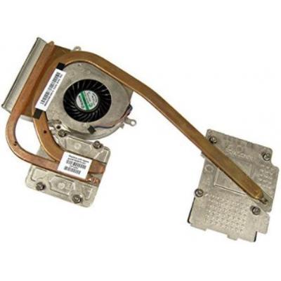 Hp notebook reserve-onderdeel: Heat sink with fan  - Copper, Metallic