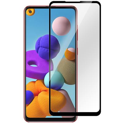 ESTUFF Samsung Galaxy A21s Screen protector - Zwart,Transparant