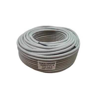 Hirschmann coax kabel: KOKA6UTP100 - Grijs