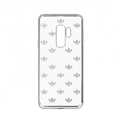 Adidas 6.2'', Galaxy S9+, TPU, silver, transparent Mobile phone case - Zilver, Transparant