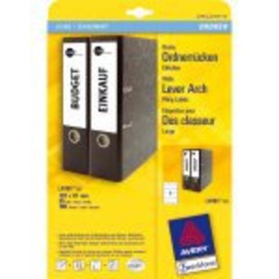 Avery Border Binder Labels, White 192 x 61mm (25) Etiket