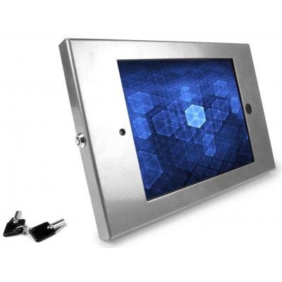 Maclocks : iPad Enclosure Wall Mount w/ Security iPad Lock, f/ Apple iPad 2/3/4, Silver - Zilver