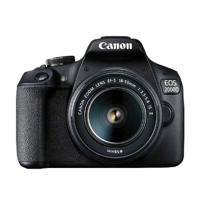 Canon EOS 2000D BK 18-55 IS II EU26 Digitale camera - Zwart