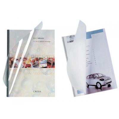 Unibind binding cover: Inbindmap steelcrystal d-bl 3mm/doos 100