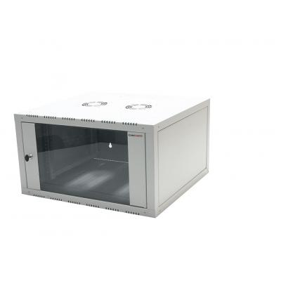 "Logilink netwerkchassis: 48.26 cm (19 "") Wallmounted Single-Section Cabinet, 9U, grey - Grijs"