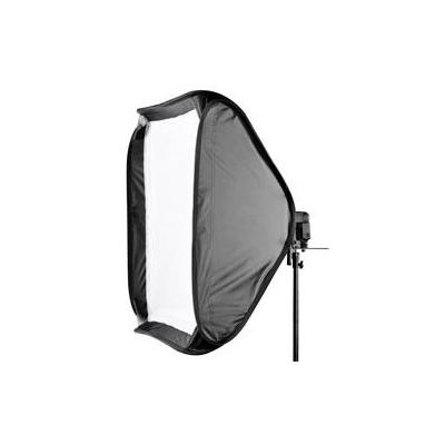 Walimex softbox: Magic Softbox for System Flashes, 90x90cm - Zwart, Wit