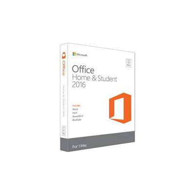 Microsoft software suite: Office Home & Student 2016 for Mac