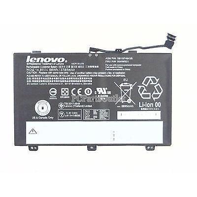 Lenovo batterij: Li-Ion, 14.8V, 56Wh, 3785mAh, 281g, ThinkPad Yoga 14 - Zwart