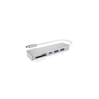 ICY BOX IB-HUB1413-CR Hub - Zilver