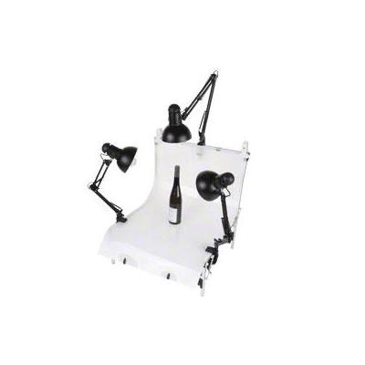 Walimex camera kit: Set 3 Daylights, 3x 125W + Shooting Table - Zwart, Zilver