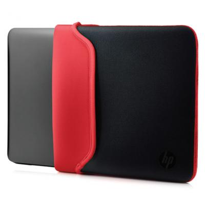 "Hp laptoptas: 13.3"" Neoprene Sleeve Black/Red - Zwart, Rood"