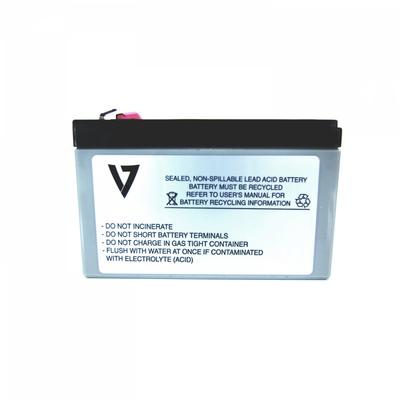 V7 RBC17 UPS UPS batterij - Zwart,Metallic