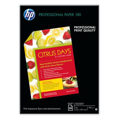 HP Professional inkjetpapier, glanzend, 50 vel, A3/297 x 420 mm Papier - Wit