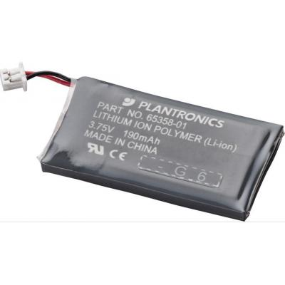Plantronics Headset Battery for CS50, CS55, CS50-USB Koptelefoon accessoire - Zwart