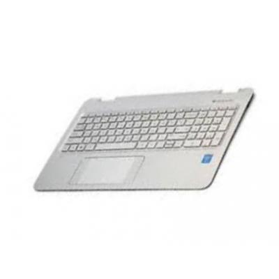 Hp notebook reserve-onderdeel: Top Cover & Keyboard (Czech/Slovak) - Zilver, Wit