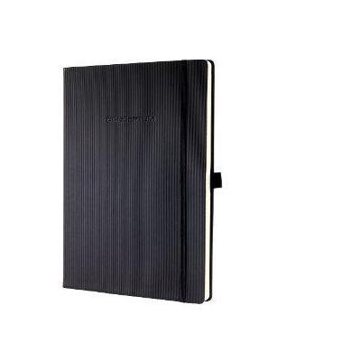 Sigel schrijfblok: A4, Hardcover, gelinieerd, 194 pagina's, 1 stuk, zwart