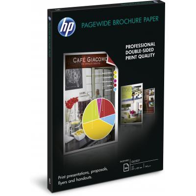 Hp papier: PageWide glanzend brochurepapier, 100 vel A3/297 x 420 mm - Wit