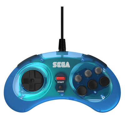 Retro-Bit SEGA Mega Drive 8-Button USB Controller - Clear Blue Interfaceadapter
