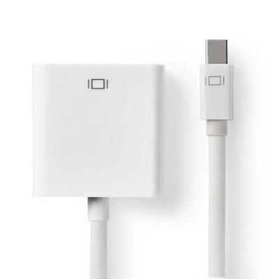 Nedis Mini-DisplayPort - VGA-Kabel, Mini-DisplayPort Male - VGA Female, 0,2 m, Wit - Zwart