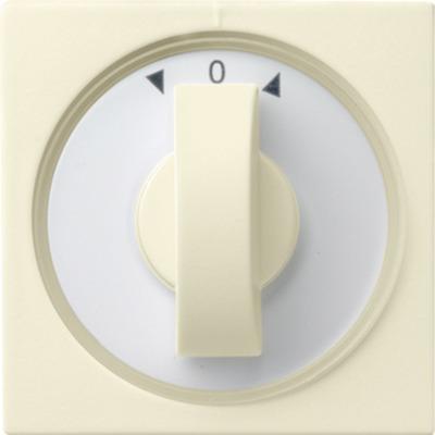 GIRA Afdekking met draaiknop voor tijdschakelaars en jaloezieschakelaars resp. -knoppen - Wit