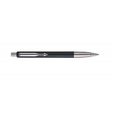 Parker pen: Vector Standard Black CT, Blue ink - Zwart, Roestvrijstaal