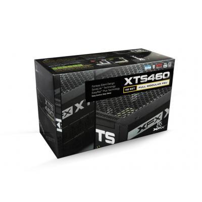 Xfx power supply unit: 460 W, 50 - 60 Hz, 100 - 240 V, 6.5 - 3.5 A, 6+2 pin, 4+4 pin, 8 pin, FDD, 20+4 pin, SATA - Zwart