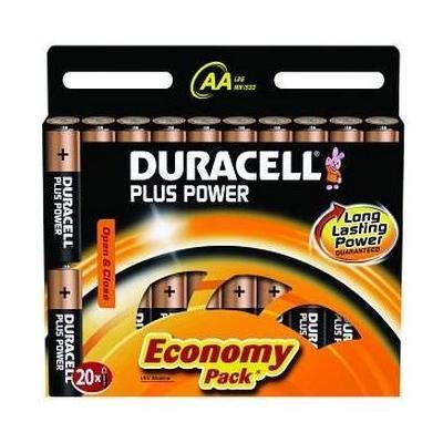 Duracell batterij: 20x AA 1.5V - Zwart, Koper