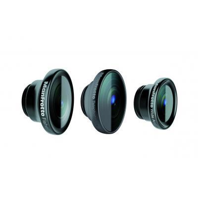 Manfrotto : Set of 3 lenses (fisheye, portrait 1.5X,wideangle) - Zwart