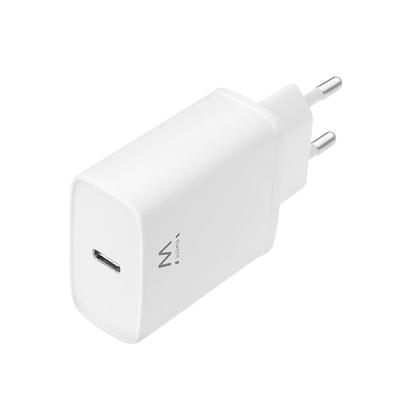Ewent Compacte USB-C Lader 20W voor snel opladen Oplader - Wit