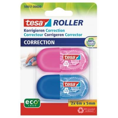 Tesa film/tape correctie: 59817 - Blauw, Roze