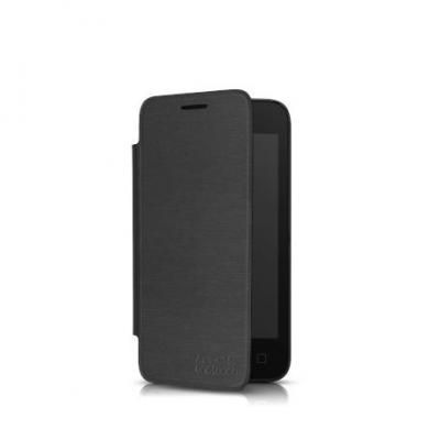Alcatel mobile phone case: Flip cover - Pixi 3 4 - Zwart