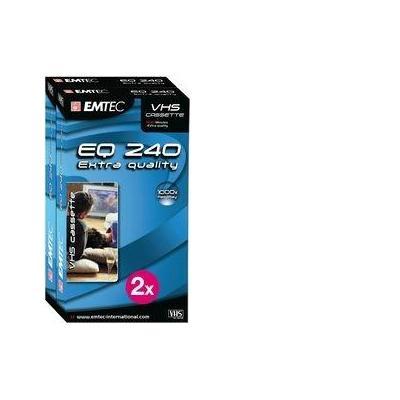 Emtec AV casette: VHS Video Cassettes Extra Quality 240 min *2