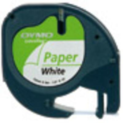 Dymo labelprinter tape: 12mm LetraTAG Paper tape