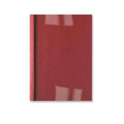 Gbc binding cover: LeatherGrain ThermaBind Bindomslagen 6mm Rood (100) - Rood, Transparant