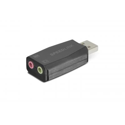 Speedlink hardware: Speedlink, VIGO USB Sound Card (Zwart)