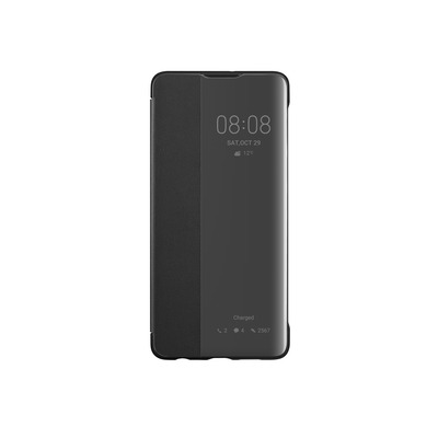 Huawei Smart View Flip Cover for P30, Black Mobile phone case - Zwart