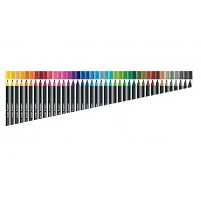 Edding viltstift: 1300 colourpen - Zwart, Veelkleurig