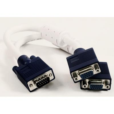 Sandberg VGA kabel : VGA Y-splitter 1 to 2, passive - Wit